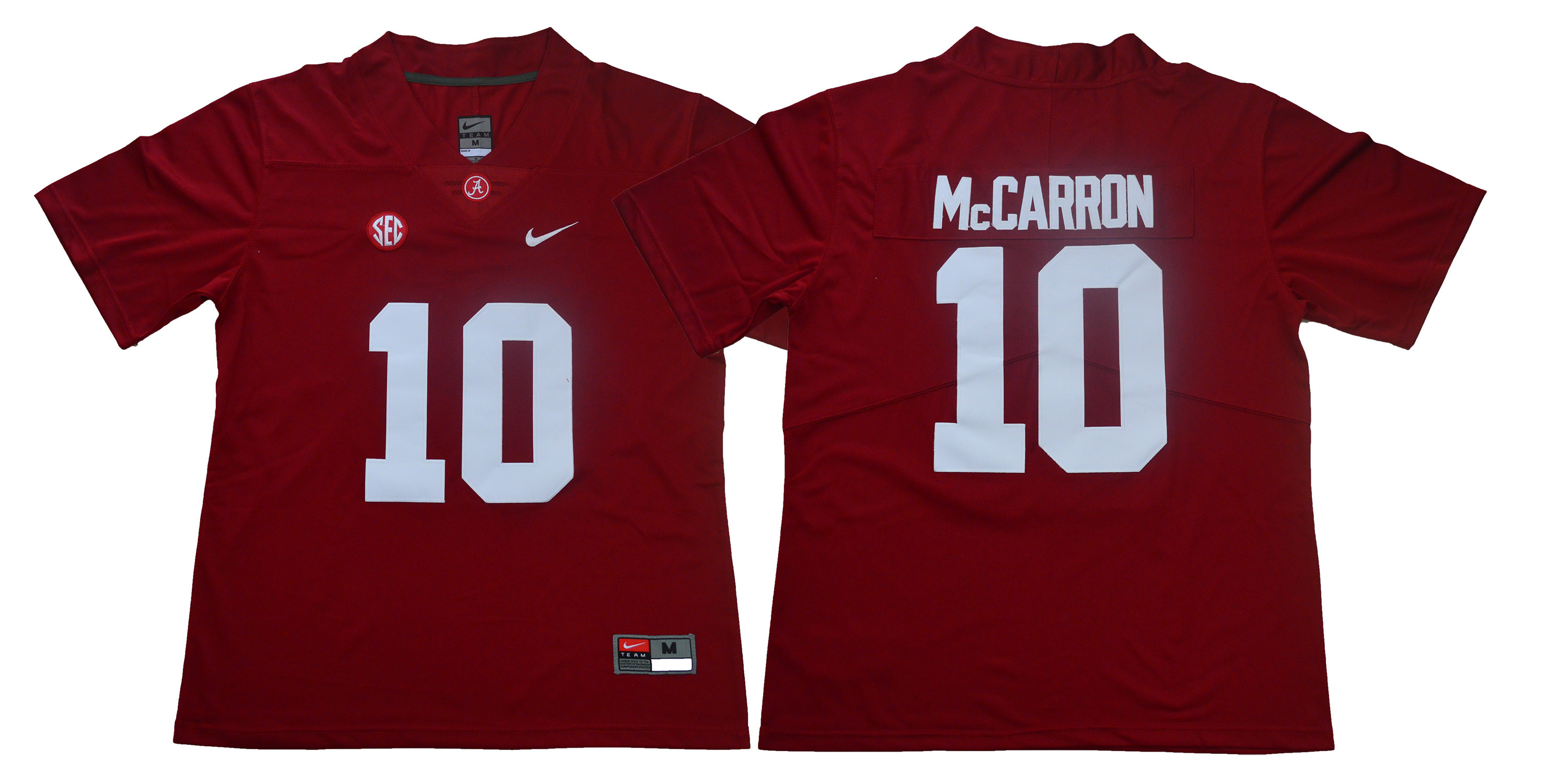Alabama Crimson Tide 10 A.J. McCarron Red Nike College Football Jersey