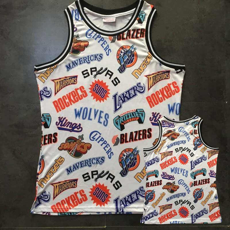 Western Conference White Throwback NBA Jersey