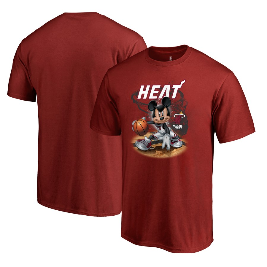 Miami Heat Fanatics Branded Disney NBA All-Star T-Shirt Red