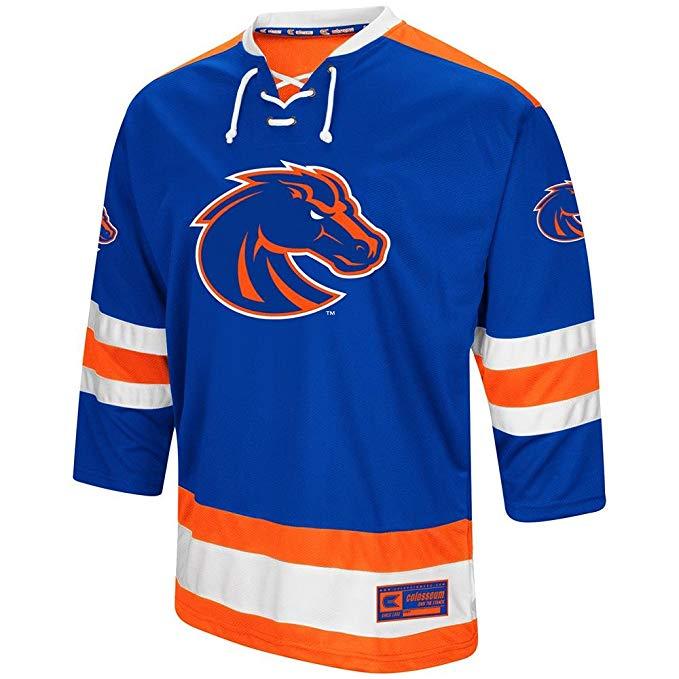 Boise State Broncos Blue Men's Colosseum Hockey Jersey
