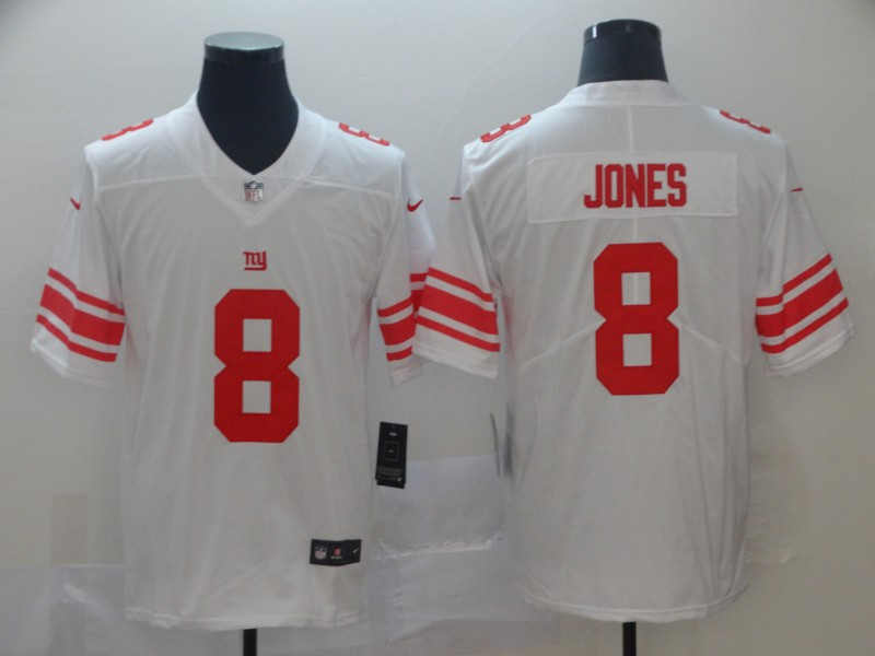 Nike Giants 8 Daniel Jones White 2019 NFL Draft First Round Pick Vapor Untouchable Limited Jersey