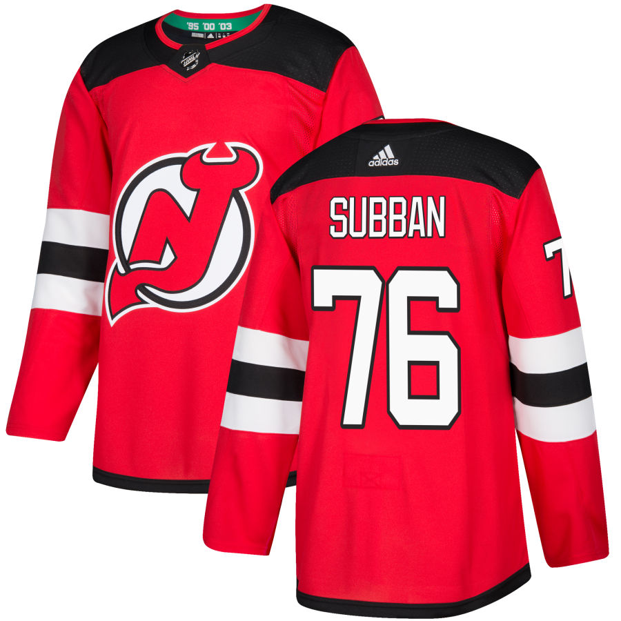 Devils 76 P.K. Subban Red Adidas Jersey