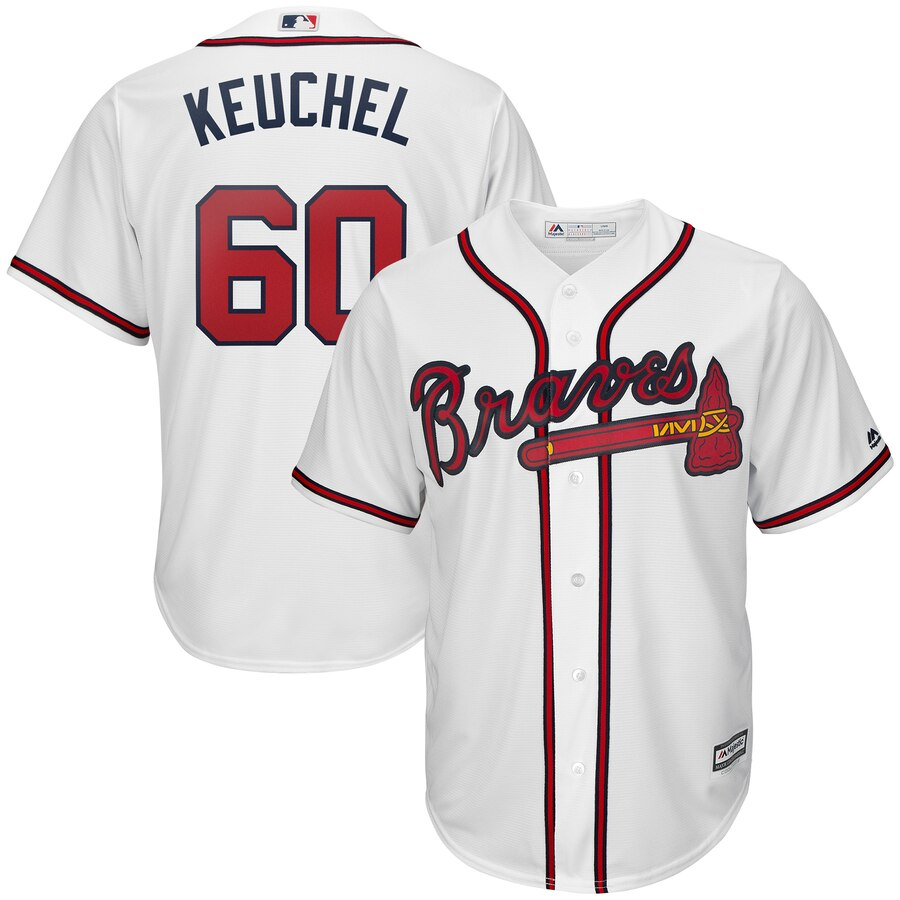 Braves 60 Dallas Keuchel White Cool Base Jersey