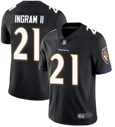 Nike Ravens 21 Mark Ingram II Black Alternate Youth Vapor Untouchable Limited Jersey