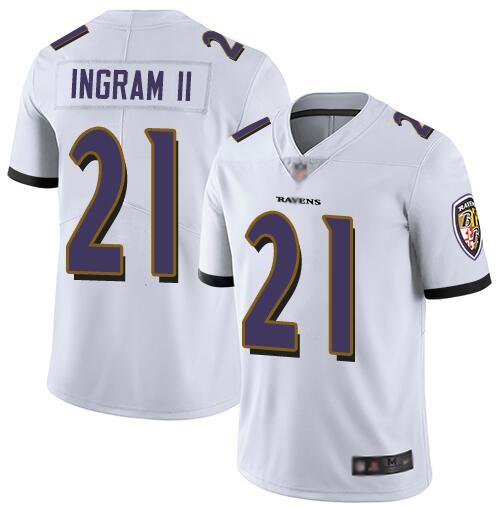 Nike Ravens 21 Mark Ingram II White Youth Vapor Untouchable Limited Jersey
