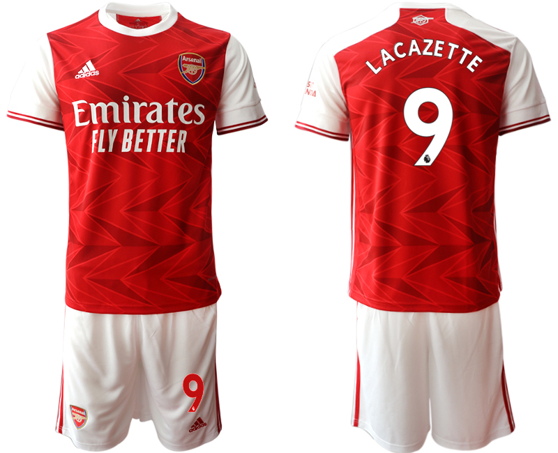 2020-21 Arsenal 9 LACAZETTE Home Soccer Jersey