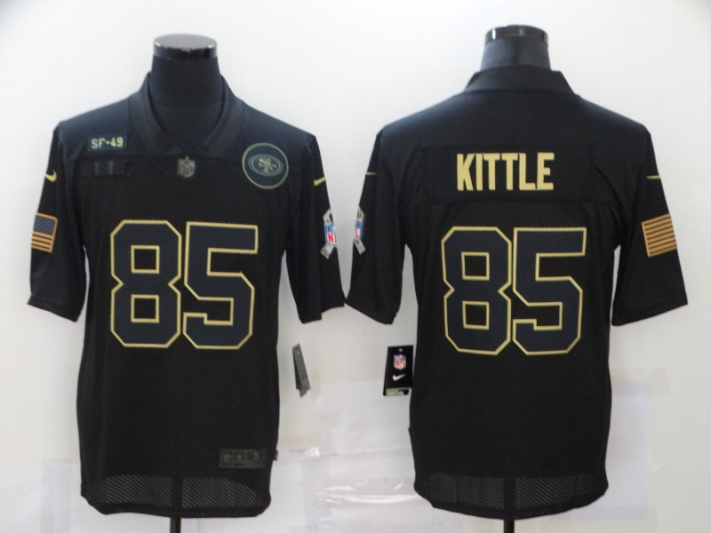 Nike 49ers 85 George Kittle Black 2020 Salute To Service Limited Jersey
