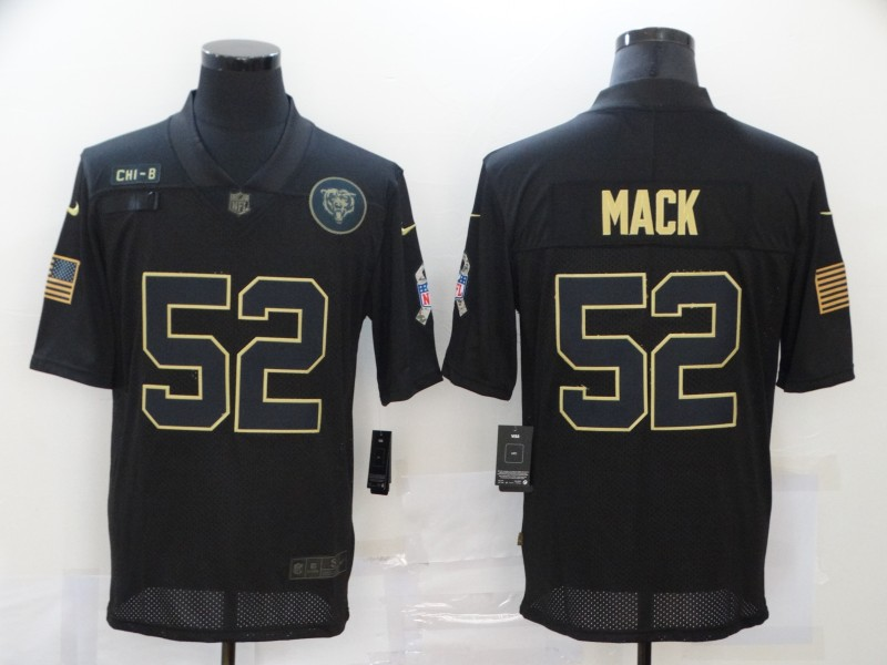 Nike Bears 52 Khalil Mack Black 2020 Salute To Service Limited Jersey