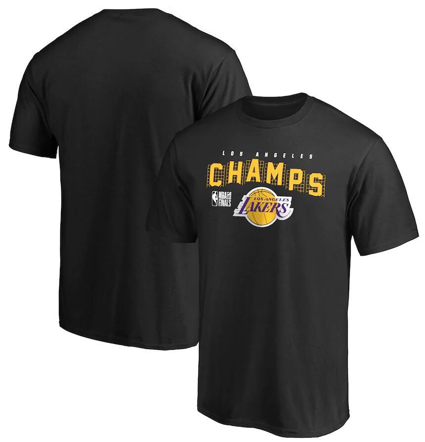 Men's Los Angeles Lakers Black 2020 NBA Finals Champions Team Represent T-Shirt