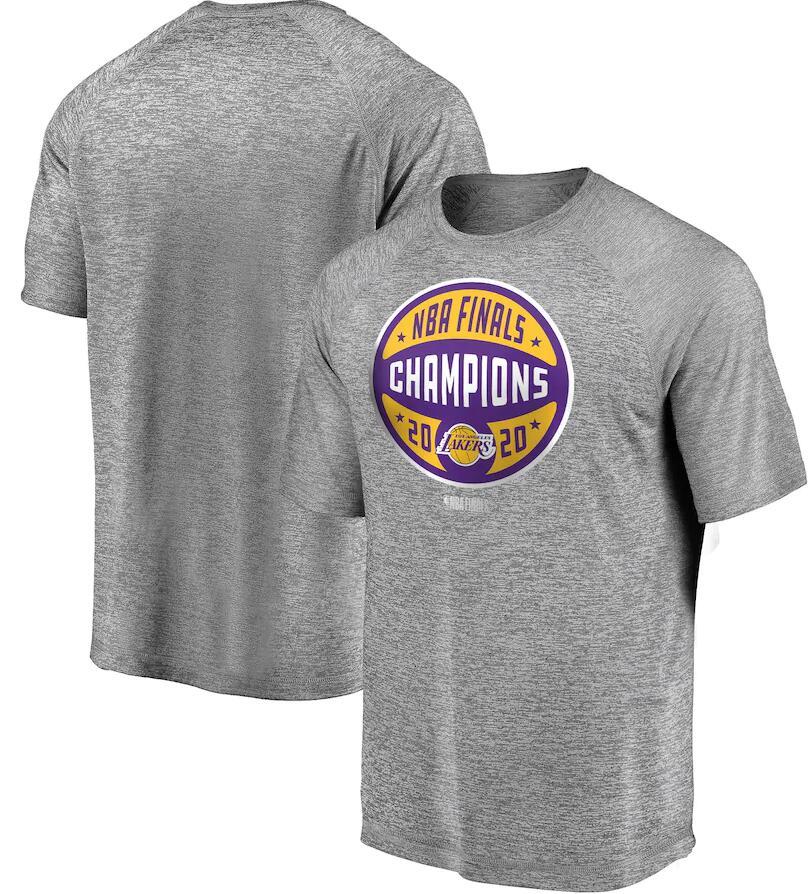 Men's Los Angeles Lakers Gray 2020 NBA Finals Champions Jumper T-Shirt