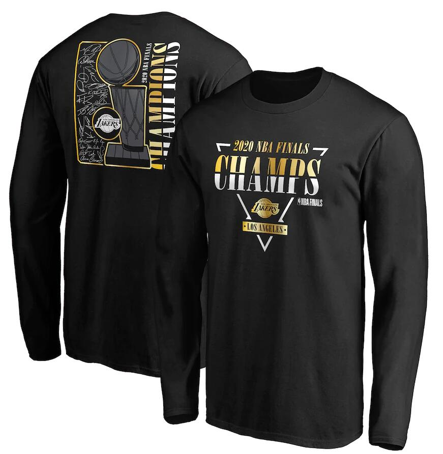 Men's Los Angeles Lakers Black 2020 NBA Finals Champions Believe The Game Big & Tall Long Sleeve T-Shirt