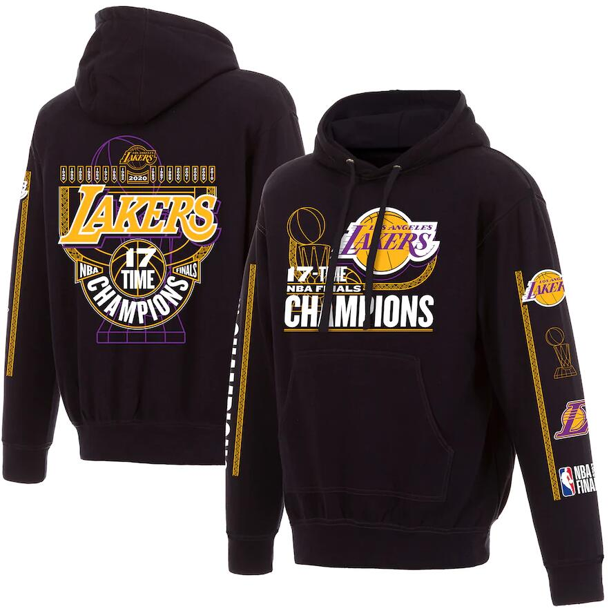 Men's Los Angeles Lakers Black 17 Time NBA Finals Champions Pullover Hoodie