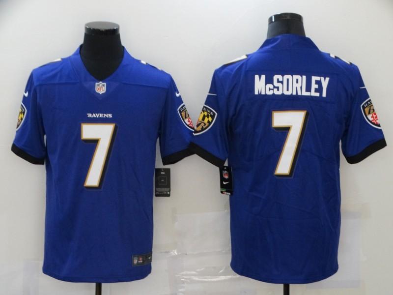 Nike Ravens 7 Trace McSorley Purple Vapor Untouchable Limited Jersey