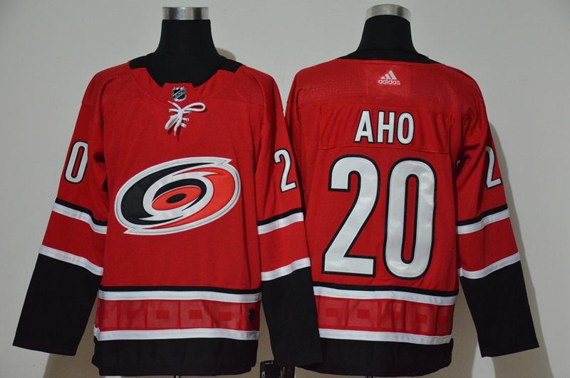 Hurricanes 20 Sebastian Aho Red Adidas Jersey