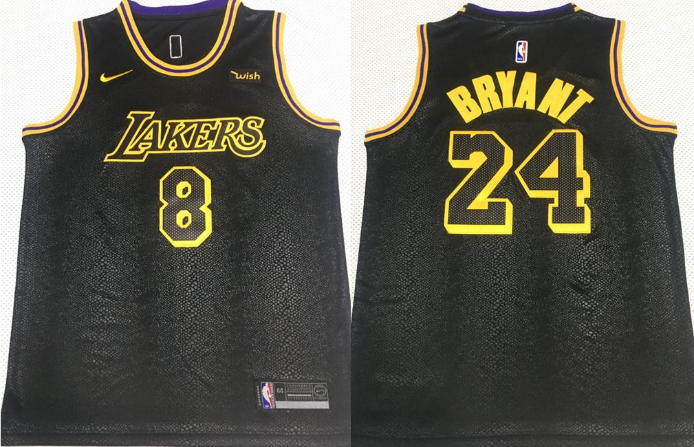 Lakers 8 & 24 Kobe Bryant Black Mamba Nike Swingman Jersey