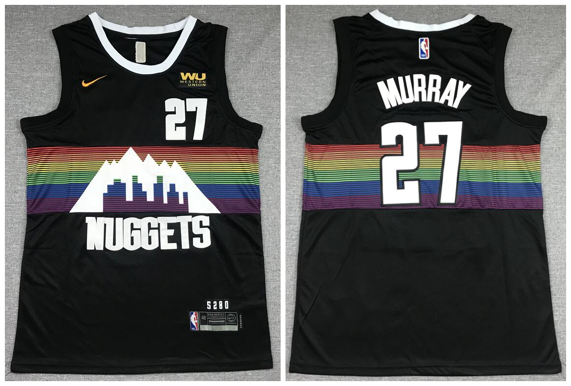 Nuggets 27 Jamal Murray Black City Edition Nike Swingman Jersey