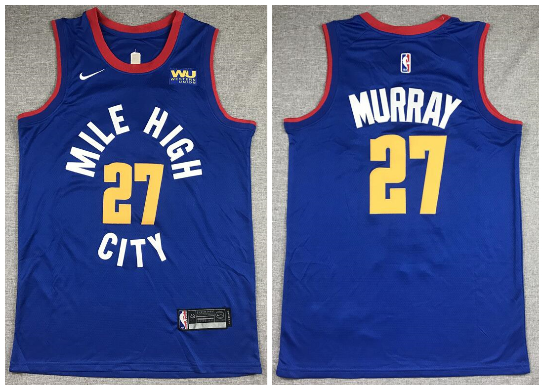 Nuggets 27 Jamal Murray Blue City Edition Nike Swingman Jersey