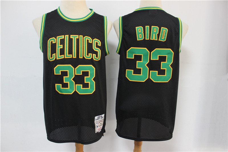 Celtics Bape 33 Larry Bird Black Hardwood Classics Jersey