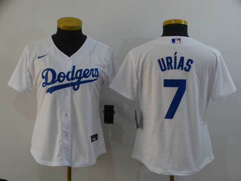 Dodgers 7 Julio Urias White Women 2020 Nike Cool Base Jersey