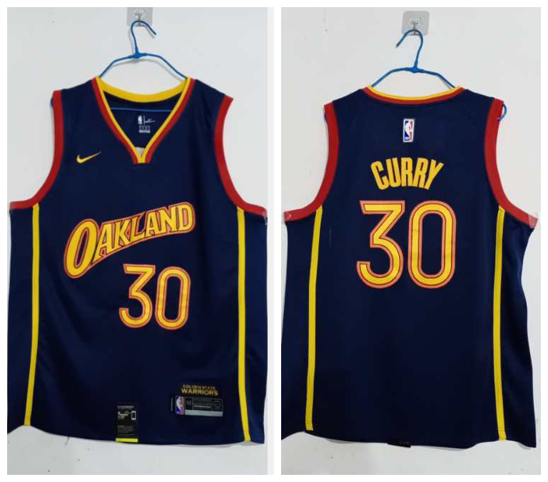 Warriors 30 Stephen Curry Blue 2020-21 City Edition Nike Swingman Jersey