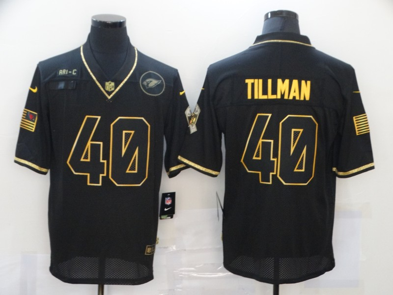 Nike Cardinals 40 Pat Tillman Black Gold 2020 Salute To Service Limited Jersey