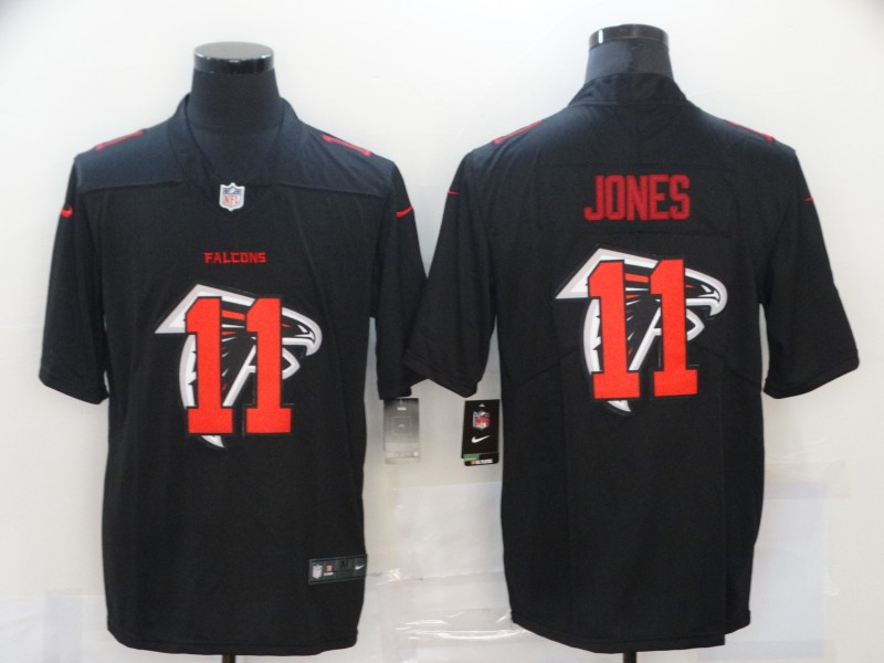 Nike Falcons 11 Julio Jones Black Shadow Logo Limited Jersey