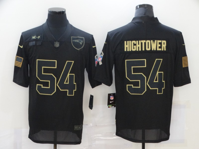 Nike Patriots 54 Tedy Bruschi Black 2020 Salute To Service Limited Jersey
