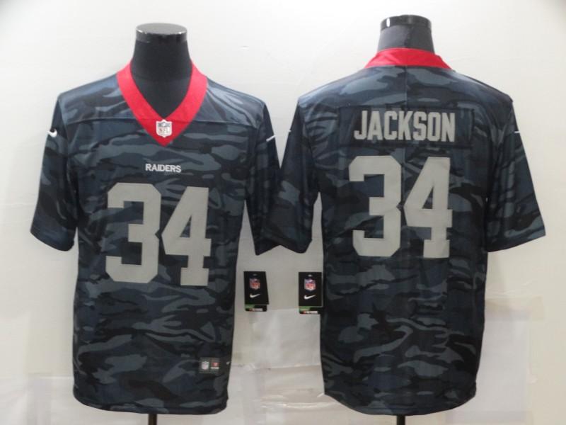 Nike Raiders 34 Bo Jackson Black Camo Limited Jersey