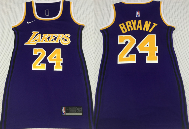 Lakers 24 Kobe Bryant Purple Women Nike Swingman Jersey