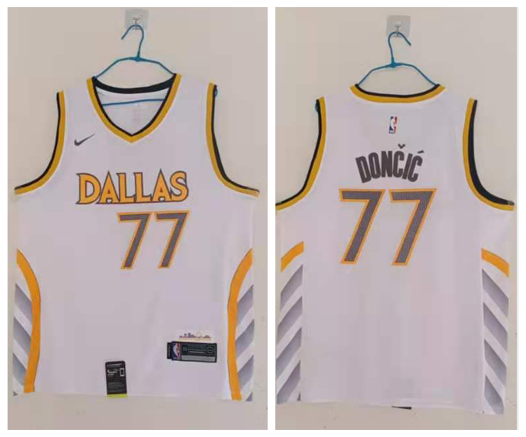 Mavericks 77 Luka Doncic White 2020-21 City Edition Nike Swingman Jersey