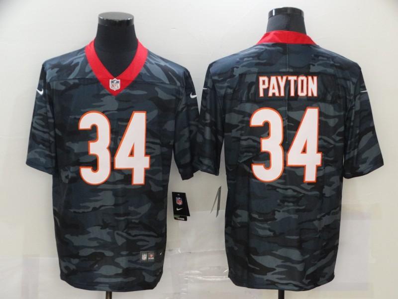 Nike Bears 34 Walter Payton Black Camo Limited Jersey