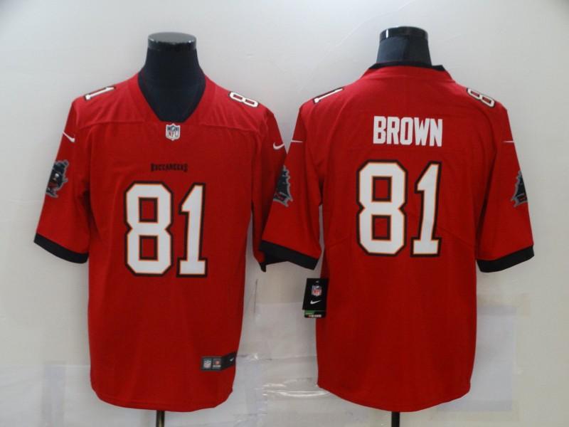 Nike Buccaneers 81 Antonio Brown Red 2020 New Vapor Untouchable Limited Jersey