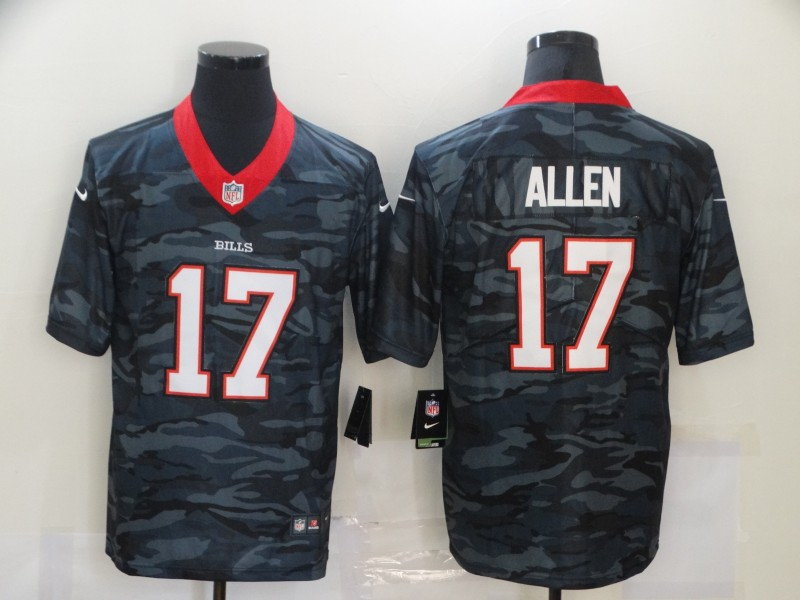 Nike Bills 17 Josh Allen Black Camo Limited Jersey