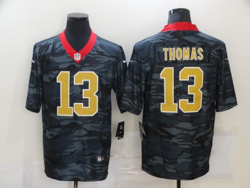 Nike Saints 13 Michael Thomas Black Camo Limited Jersey