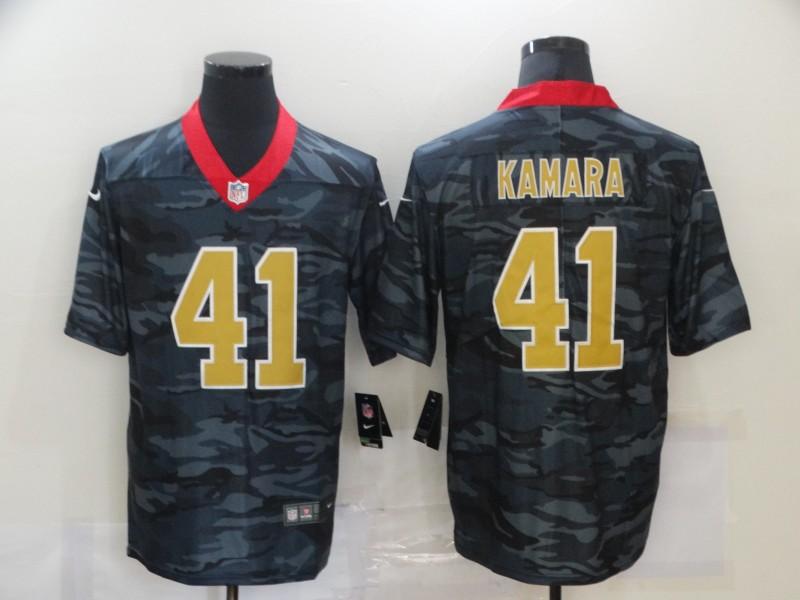Nike Saints 41 Alvin Kamara Black Camo Limited Jersey