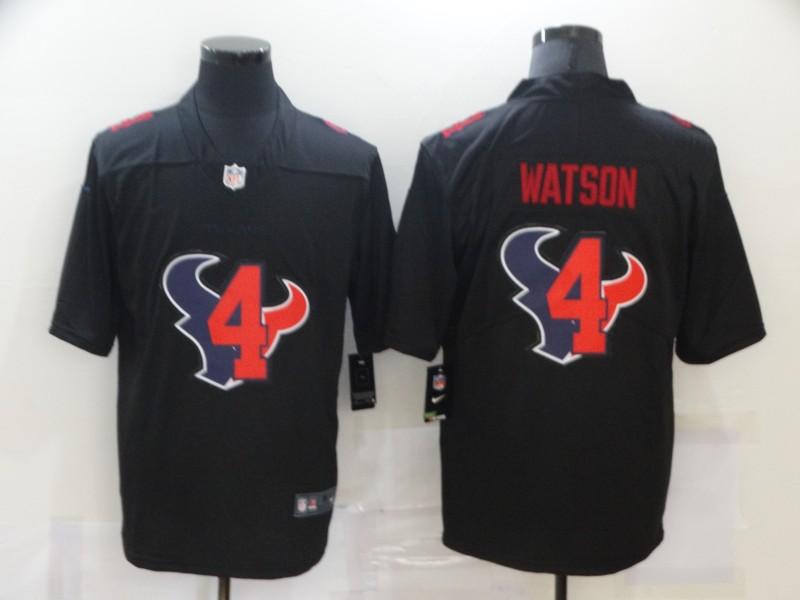 Nike Texans 4 Deshaun Watson Black Shadow Logo Limited Jersey