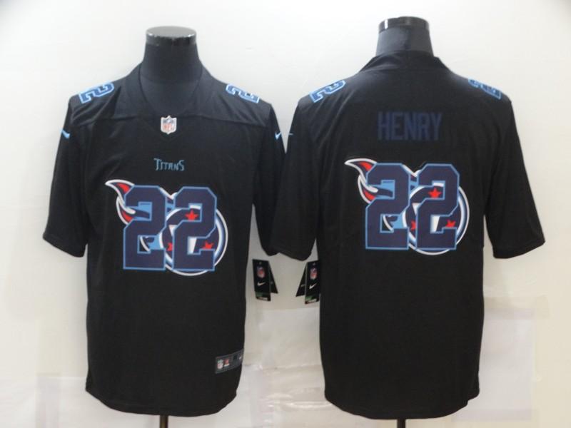 Nike Titans 22 Derrick Henry Black Shadow Logo Limited Jersey