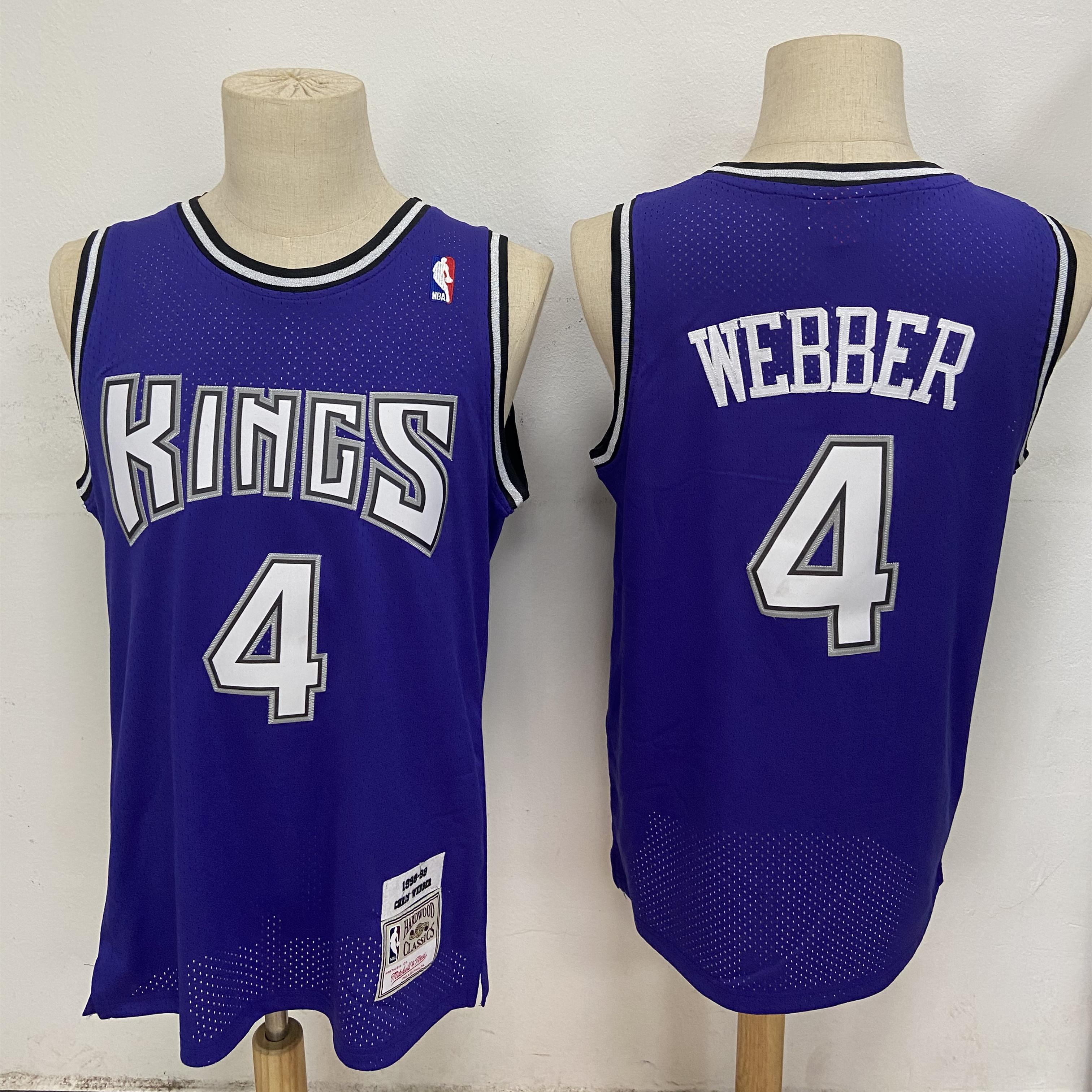 Kings 4 Chris Webber Purple 1998-99 Hardwood Classics Jersey