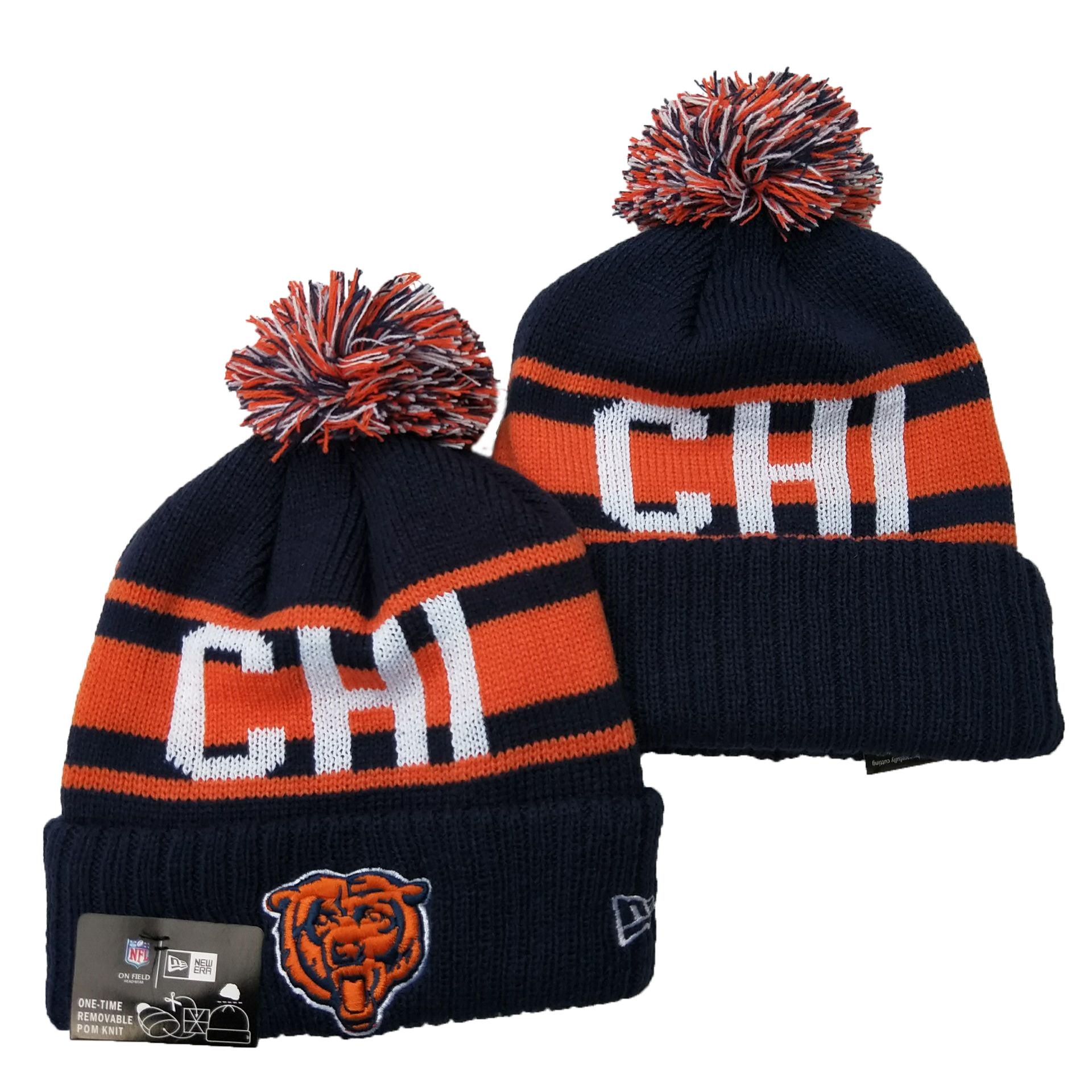 Bears Team Logo Navy Cuffed Knit Hat YD