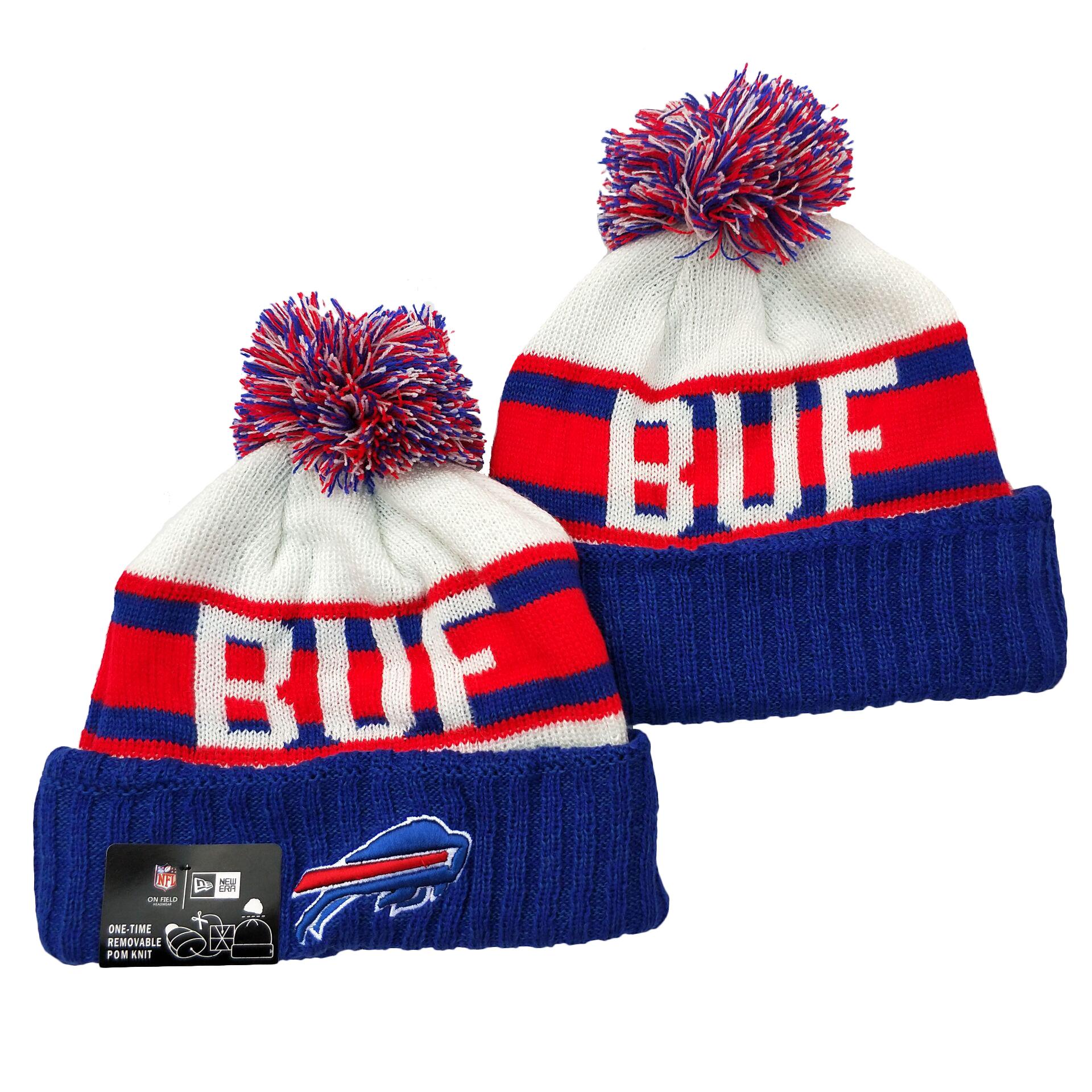 Bills Team Logo Royal Red White Cuffed Knit Hat YD