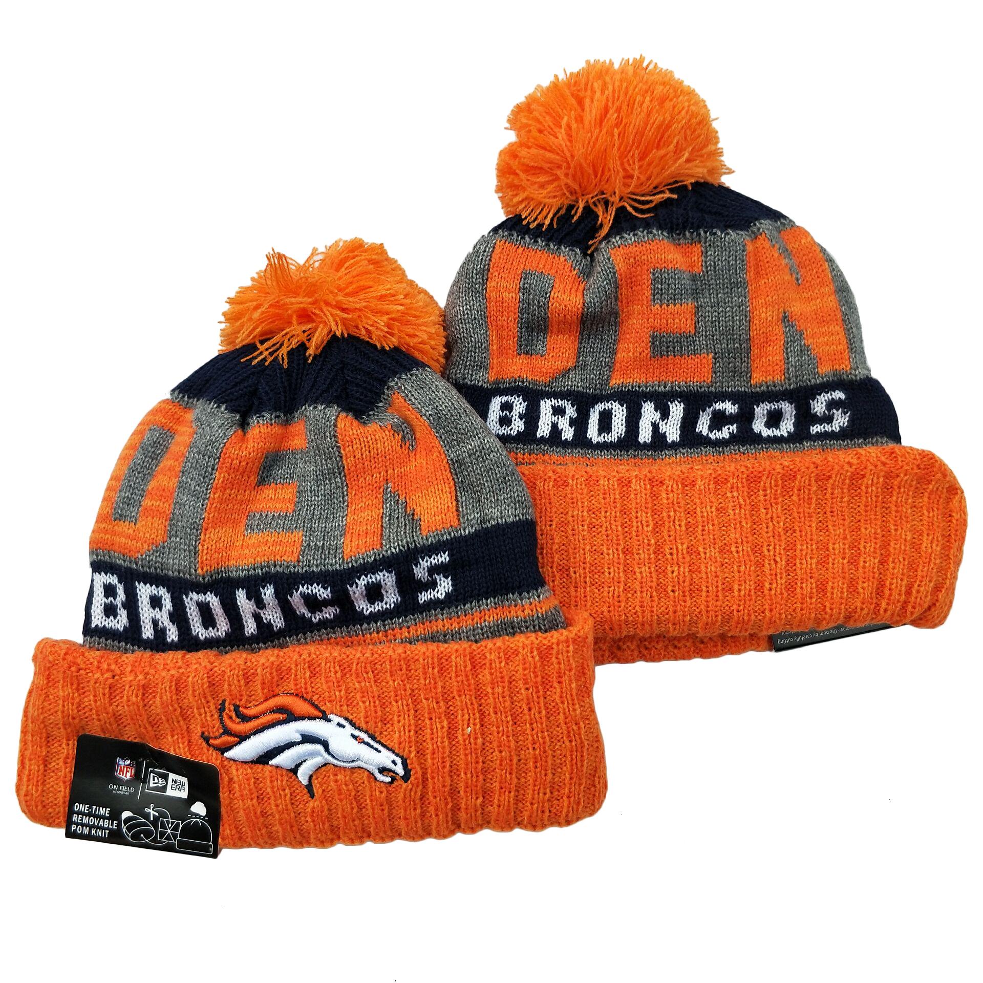 Broncos Team Logo Orange Cuffed Knit Hat YD