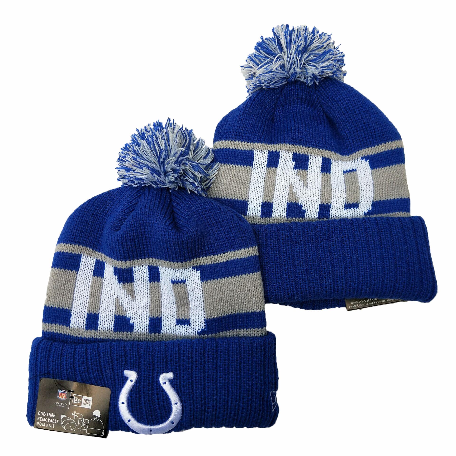 Colts Team Logo Royal Cuffed Knit Hat YD