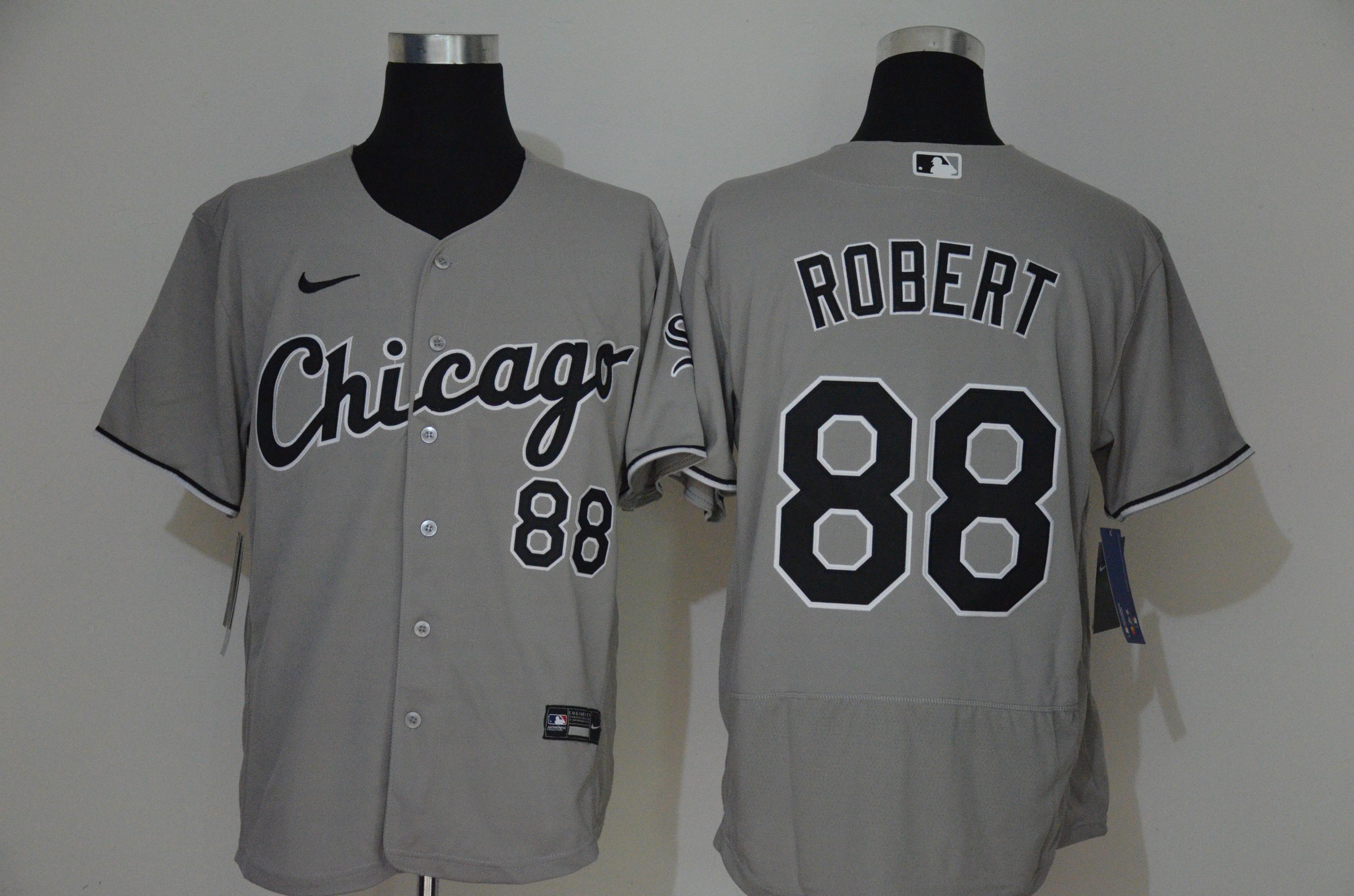 White Sox 88 Luis Robert Gray 2020 Nike Flexbase Jersey