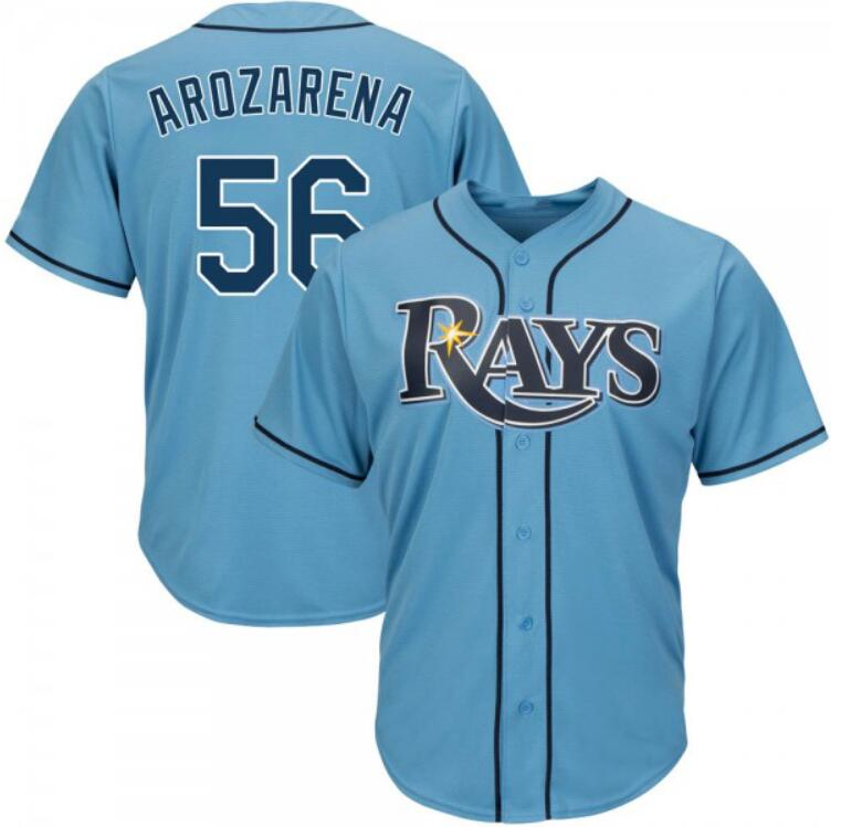 Rays 56 Randy Arozarena Royal Cool Base Jersey