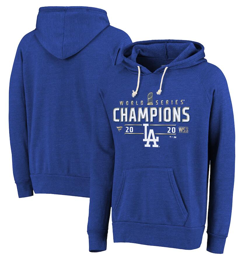 Men's Los Angeles Dodgers Fanatics Branded Royal 2020 World Series Champions Locker Room Pullover Hoodie