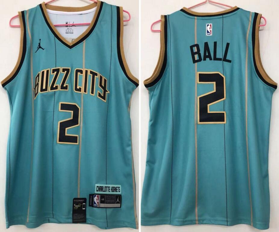 Hornets 2 LaMelo Ball Teal 2020-21 City Edition Swingman jersey