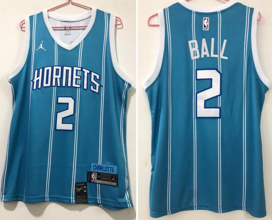 Hornets 2 LaMelo Ball Teal Icon Edition Swingman jersey