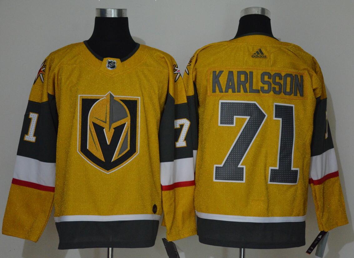 Vegas Golden Knights 71 William Karlsson Gold 2020-21 Adidas Jersey
