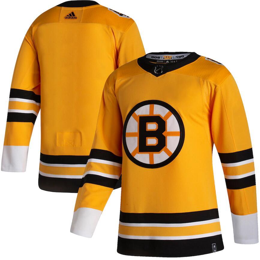 Bruins Blank Yellow 2020-21 Reverse Retro Adidas Jersey