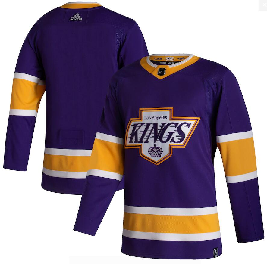 Kings Blank Purple 2020-21 Reverse Retro Adidas Jersey